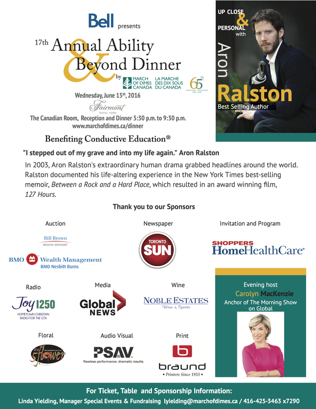 March of Dimes Canada 2016 Ability & Beyond Gala Dinner